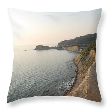 Throw Pillow featuring the photograph Sunset Gourna by George Katechis