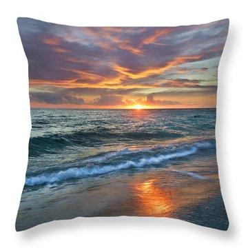 Throw Pillow featuring the photograph Sunset Gulf Islands National Seashore by Tim Fitzharris