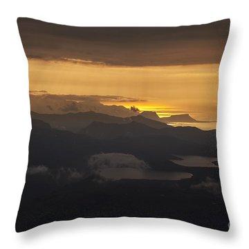 Sunset Throw Pillow by Gunnar Orn Arnason
