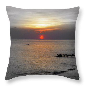 Throw Pillow featuring the photograph Sunset  by Haleh Mahbod