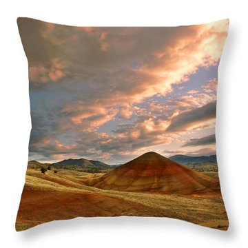 Sunset Hill Throw Pillow by Sonya Lang
