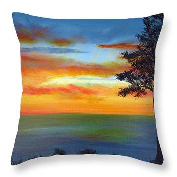 Sunset IIi Throw Pillow by Dottie Kinn