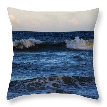 Sunset Image At Myrtle Beach Throw Pillow