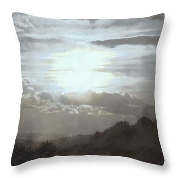 Throw Pillow featuring the photograph Sunset Impressions Over The Blue Ridge Mountains by Photographic Arts And Design Studio