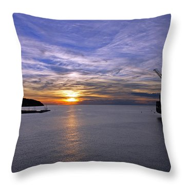 Sunset In Adriatic Throw Pillow