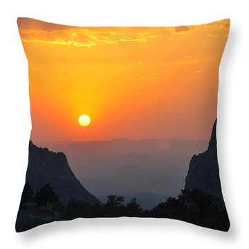 Sunset In Big Bend National Park Throw Pillow