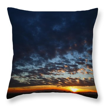 Sunset In Blue Throw Pillow