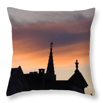 Sunset In Brussels Throw Pillow