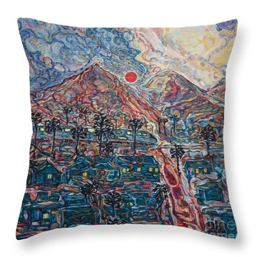 Sunset In California Throw Pillow