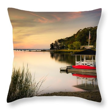 Sunset In Centerport Throw Pillow