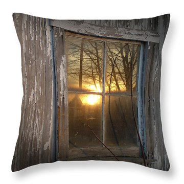 Sunset In Glass Throw Pillow by Cynthia Lassiter