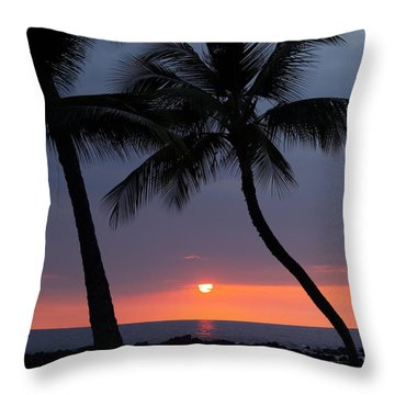 Sunset In Hawaii Throw Pillow