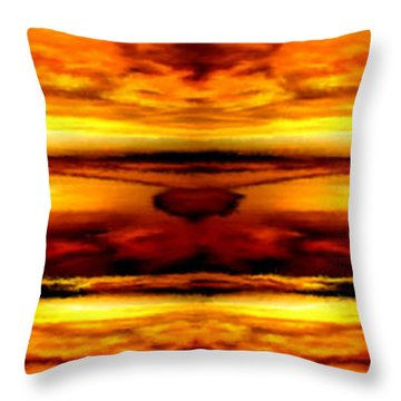 Sunset In Heaven Throw Pillow by Bruce Nutting