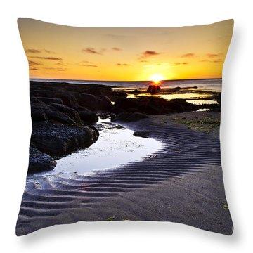 Sunset In Iceland Throw Pillow by Gunnar Orn Arnason