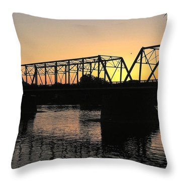 Sunset In June Throw Pillow