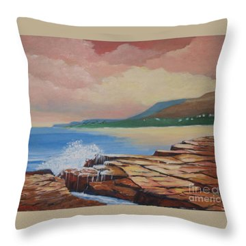 Sunset In New South Wales Throw Pillow
