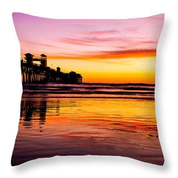 Sunset In Oceanside Throw Pillow