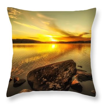 Throw Pillow featuring the photograph Sunset In Our Little Village  by Rose-Maries Pictures