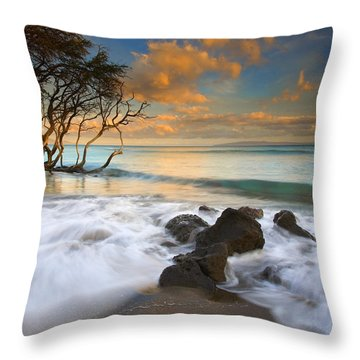 Sunset In Paradise Throw Pillow by Mike  Dawson