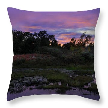 Sunset In Purple Along Highway 7 Throw Pillow