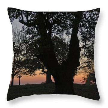 Sunset In Richmond Park Throw Pillow by Maj Seda