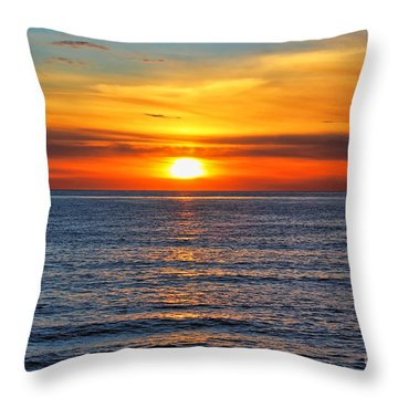 Sunset In San Clemente Throw Pillow by Mariola Bitner