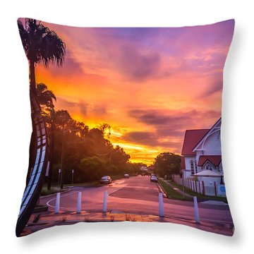 Throw Pillow featuring the photograph Sunset In Sandgate by Peta Thames