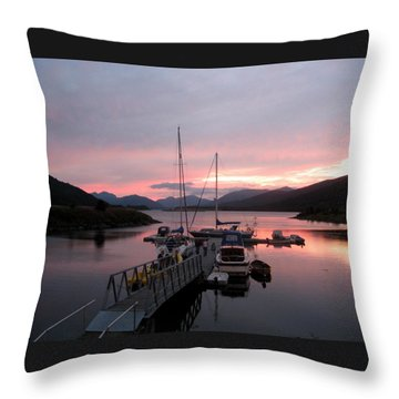 Sunset In Scotland Throw Pillow by Joyce Woodhouse