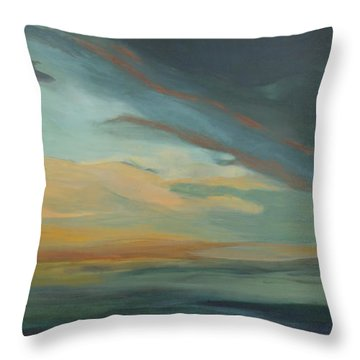 Sunset In St. Petersburg Throw Pillow