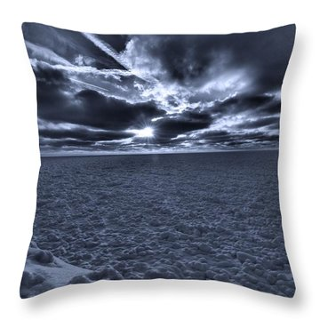 Sunset In The Arctic Throw Pillow by Dan Sproul