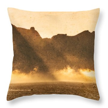 Sunset In The Arctic  Throw Pillow by Maciej Markiewicz