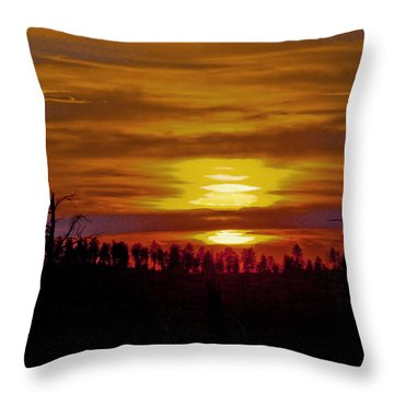 Throw Pillow featuring the photograph Sunset In The Black Hills 2 by Cathy Anderson