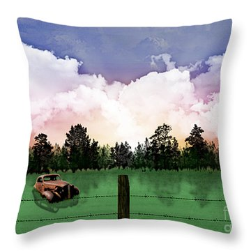 Sunset In The Boondocks Throw Pillow by Thomas OGrady