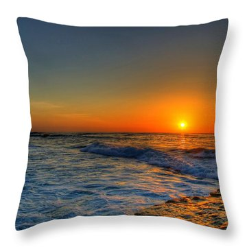 Sunset In The Cove Throw Pillow by Dave Files