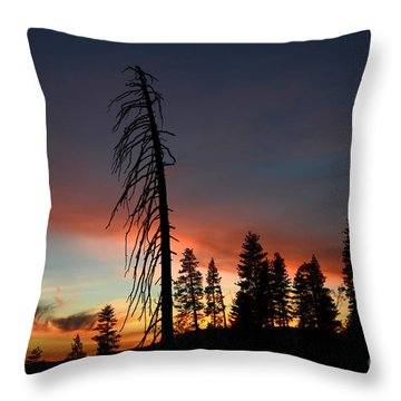 Sunset In Yosemite Throw Pillow by Debra Thompson