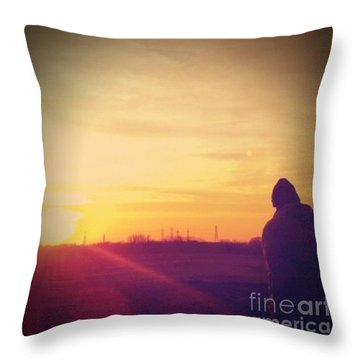 #sunset Throw Pillow