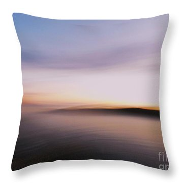Sunset Island Dreaming Throw Pillow