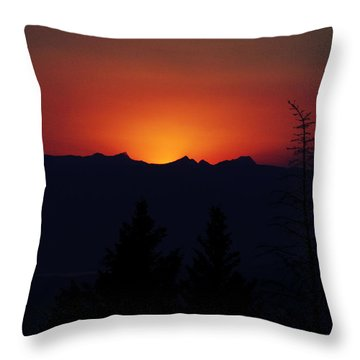 Sunset Throw Pillow by Janie Johnson