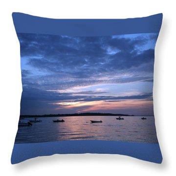 Throw Pillow featuring the photograph Sunset by Karen Silvestri