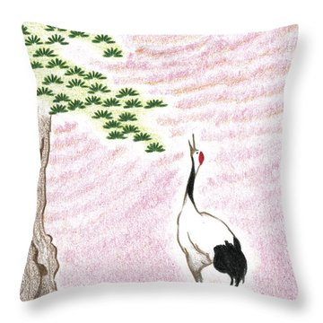 Sunset Throw Pillow by Keiko Katsuta