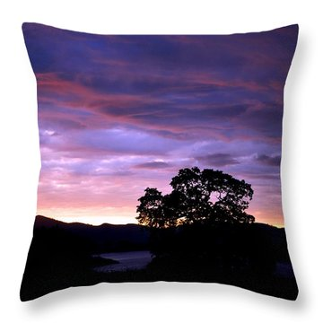 Sunset Lake Throw Pillow by Matt Harang