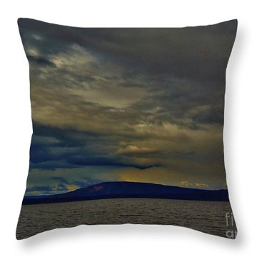 Throw Pillow featuring the photograph Sunset Lake Yellowstone by Larry Campbell