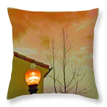 Sunset Lantern Throw Pillow