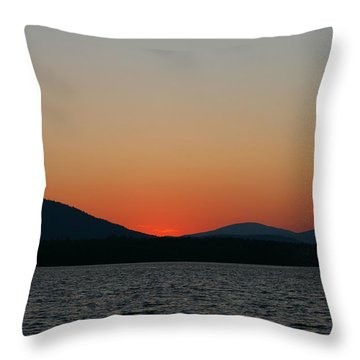 Sunset Lines Of Lake Umbagog  Throw Pillow by Neal Eslinger