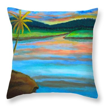 Sunset  Throw Pillow by Lorna Maza
