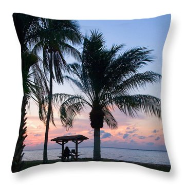Throw Pillow featuring the photograph Sunset Lovers by Judy  Johnson
