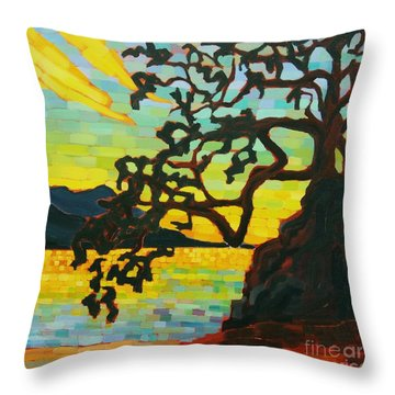 Sunset Mambo Throw Pillow