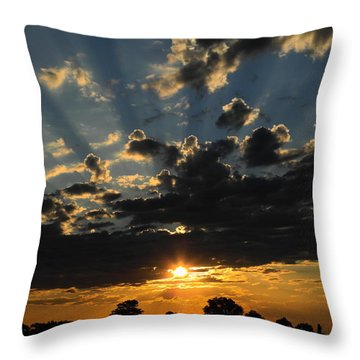 Dark Sunset Throw Pillow