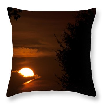 Sunset Throw Pillow by Miguel Winterpacht