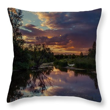 Sunset Mirror Throw Pillow